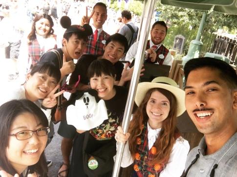 Visiting Disneyland. Tokyo, Disneyland, and Walt Disney World Cast Members together.